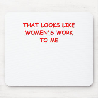womans work mouse pad