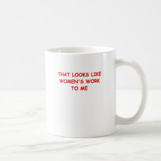 womans work mug