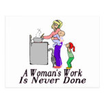 Woman's Work Post Cards