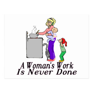 Woman's Work Postcard