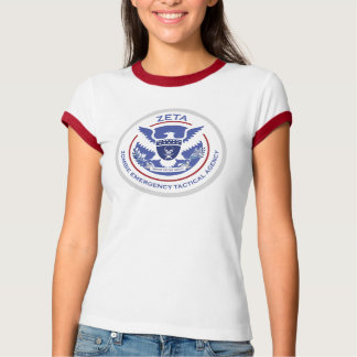 Woman's Zombie Emergency Tactical Agency T-Shirt