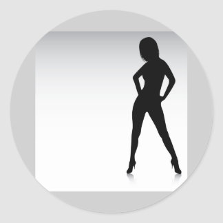 WomanVector Classic Round Sticker