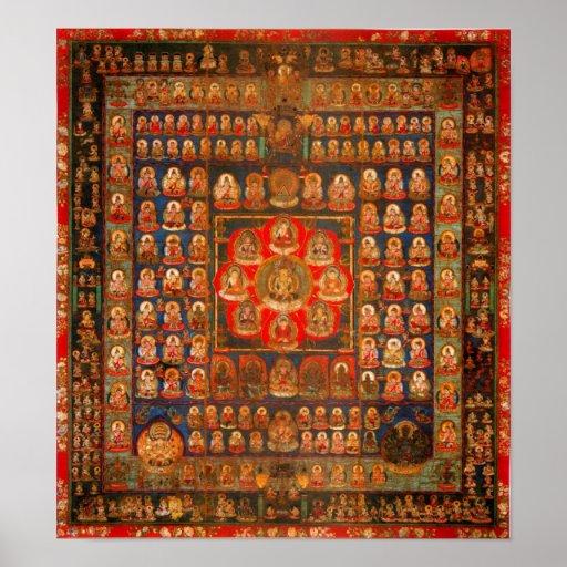 Womb Realm Mandala Posters