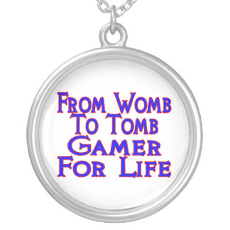 Womb To Tomb Gamer Silver Plated Necklace