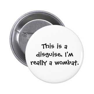 Wombat Costume Button
