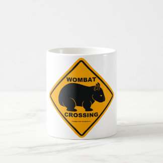Wombat Crossing Sign Coffee Mug