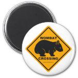 Wombat Crossing Sign Refrigerator Magnet