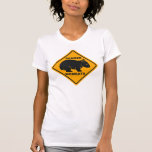 Wombat Danger Road Sign T Shirt
