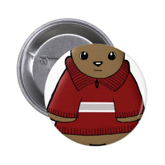 wombat en suéter con el JPEG de la raya Pin