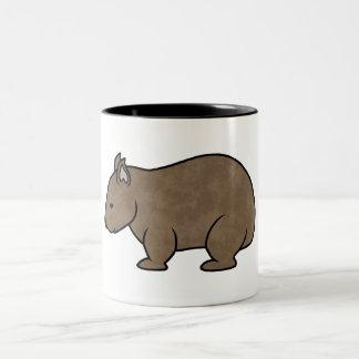 Wombat Graphic Two-Tone Coffee Mug