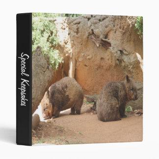 Wombat Heaven 3 Ring Binder