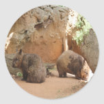 Wombat Heaven Classic Round Sticker