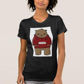wombat in sweater with stripe jpeg tee shirt