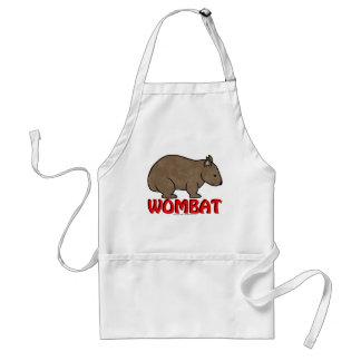 Wombat Logo Adult Apron