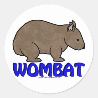 Wombat Logo III Classic Round Sticker