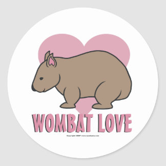 Wombat Love II Classic Round Sticker