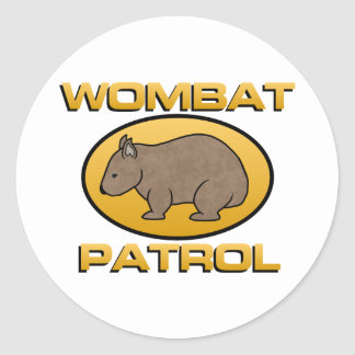 Wombat Patrol Classic Round Sticker