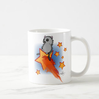 Wombat que monta una estrella fugaz tazas de café