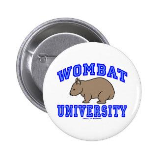 Wombat University II Pinback Buttons