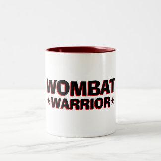 Wombat Warrior Two-Tone Coffee Mug