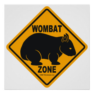 Wombat Zone Sign