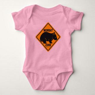 Wombat Zone Sign Baby Bodysuit