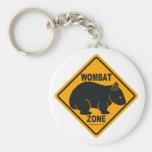 Wombat Zone Sign Basic Round Button Keychain