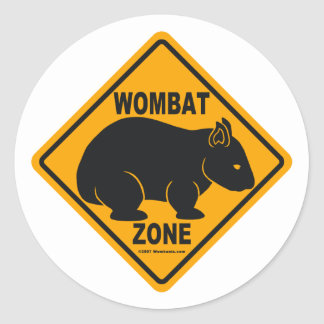 Wombat Zone Sign Stickers