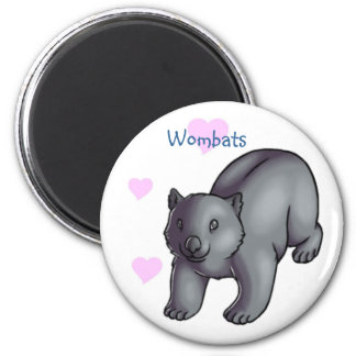 Wombats 2 Inch Round Magnet
