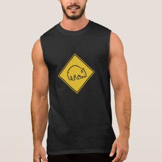 Wombats Crossing, Traffic Warning Sign, Australia Sleeveless Shirts