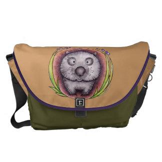 """""""Wombie"""" el bolso del wombat Bolsa De Mensajería"""