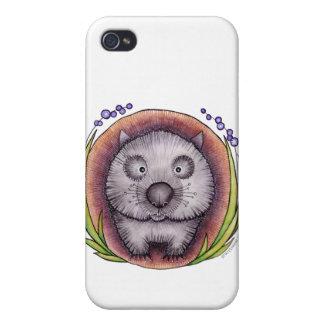 """Wombie"" el caso del iPhone del wombat iPhone 4 Fundas"