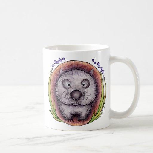 """Wombie"" el mug^ del wombat Tazas"