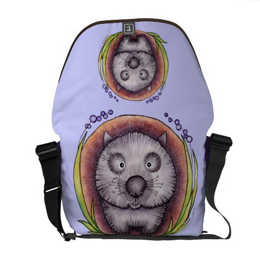 'Wombie' the wombat bag Messenger Bag