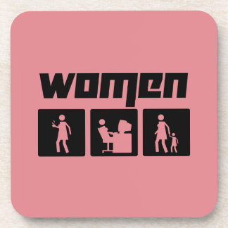 Women 2 beverage coaster