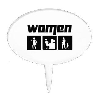 Women 2 cake topper