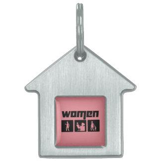 Women 2 pet ID tags