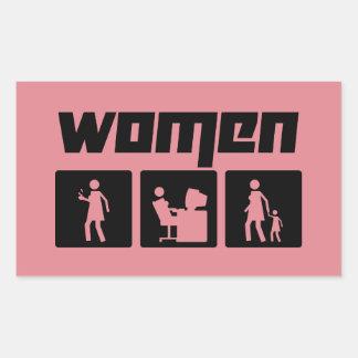 Women 2 rectangular sticker