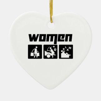 Women 4 ceramic ornament