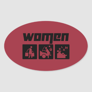 Women 4 oval sticker