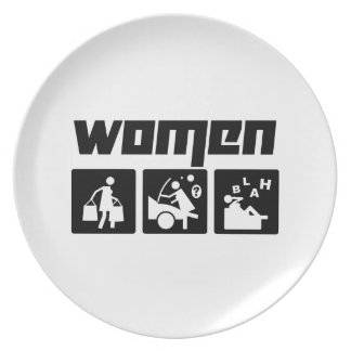 Women 4 party plate