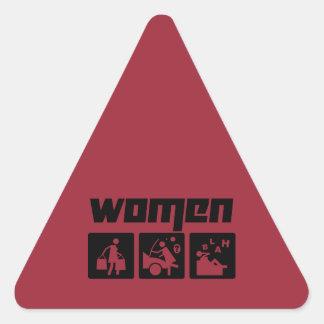 Women 4 triangle sticker