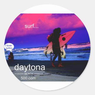 Women Admires Surfers Classic Round Sticker