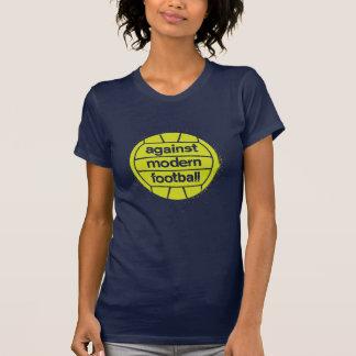 Women Against Modern Football (Navy/Lime) T-shirt