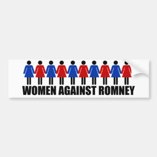Women Against Romney Bumper Stickers