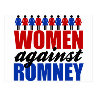 Women Against Romney Postcard