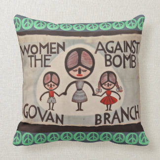 Women Against The Bomb Govan Branch Pillow