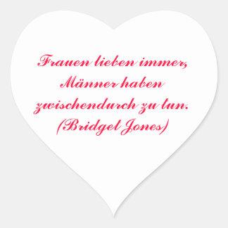 Women always love… heart sticker