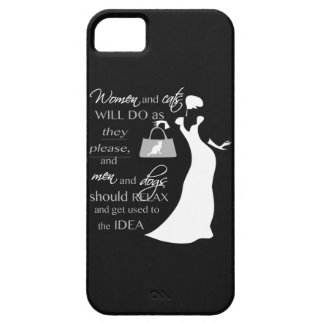 Women and cat quote iPhone SE/5/5s case