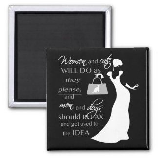Women and cat quote magnet